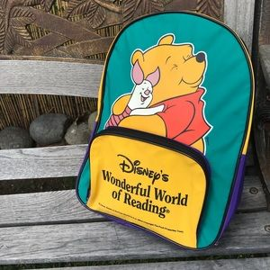 Winnie The Pooh Disney World Of Reading Backpack